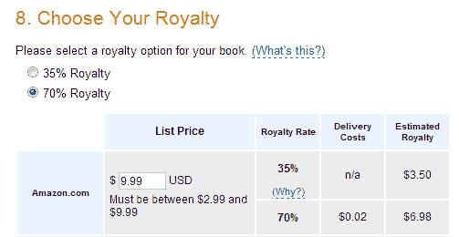 قیمت کتاب و گزینه های Royalty