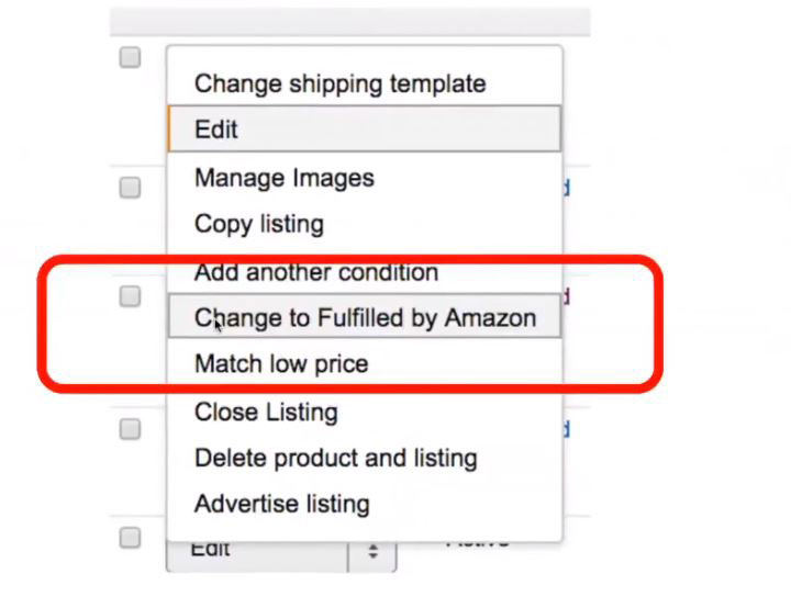 ویرایش محصول و تبدیل آن به اف-بی-ای برای فروش در امازون