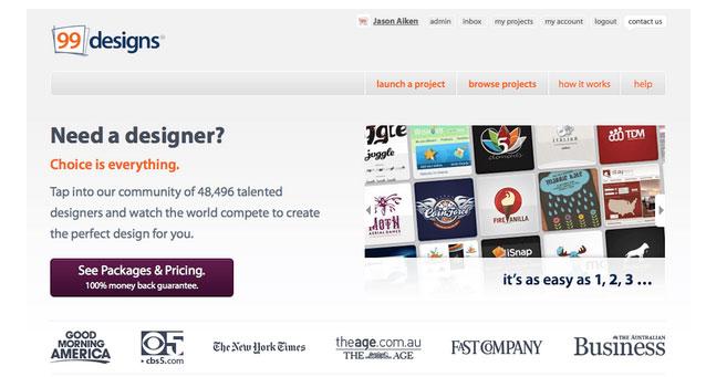 سایت فریلنسری طراحی 99designs