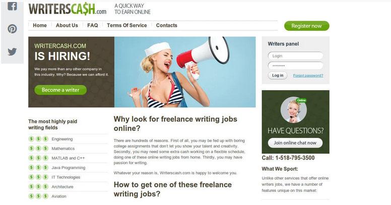سایت فریلنسری تولید محتوا Freelance-Writing-Gigs