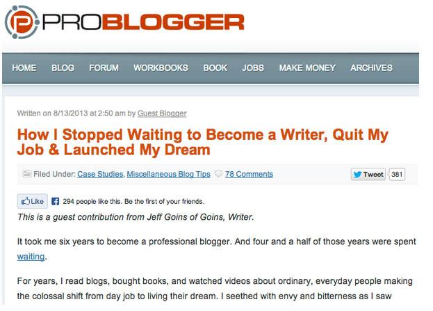 وبسایت فریلنسینگ ProBlogger