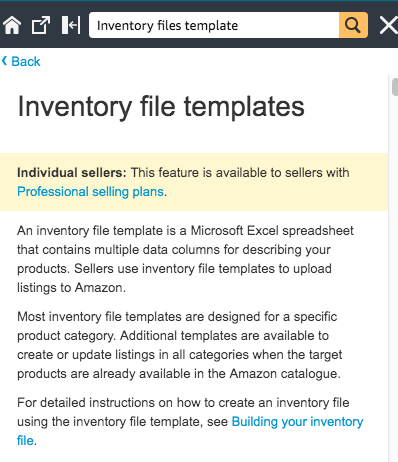 Inventory Files Template Amazon Seller Central Help